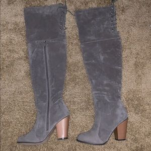 OTK over the knee Grey boots! Brand new! Size 9